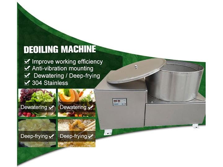 fried peanut deoiling machine