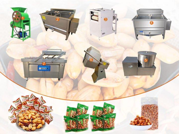 fried peanut production line