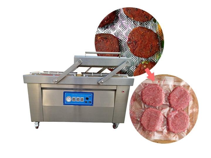 burger pack machine