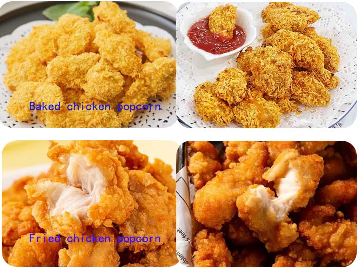 fried VS baked chicken popcorn