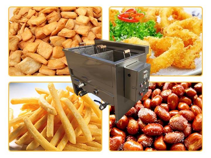 semi-automatic frying machine application
