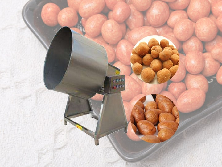 peanut burger coating machine