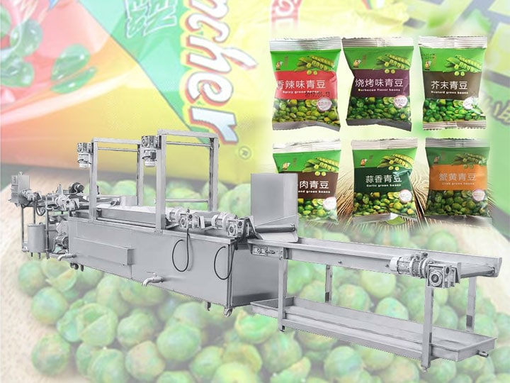 automatic fried peas making machines