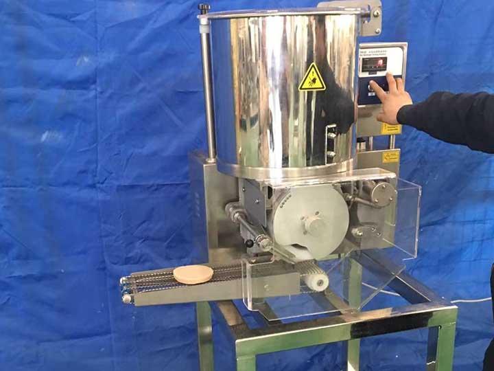 patty making machine operation
