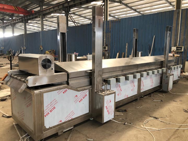 automatic samosa frying machine