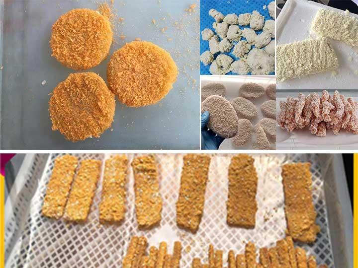 automatic crumb coating machine application