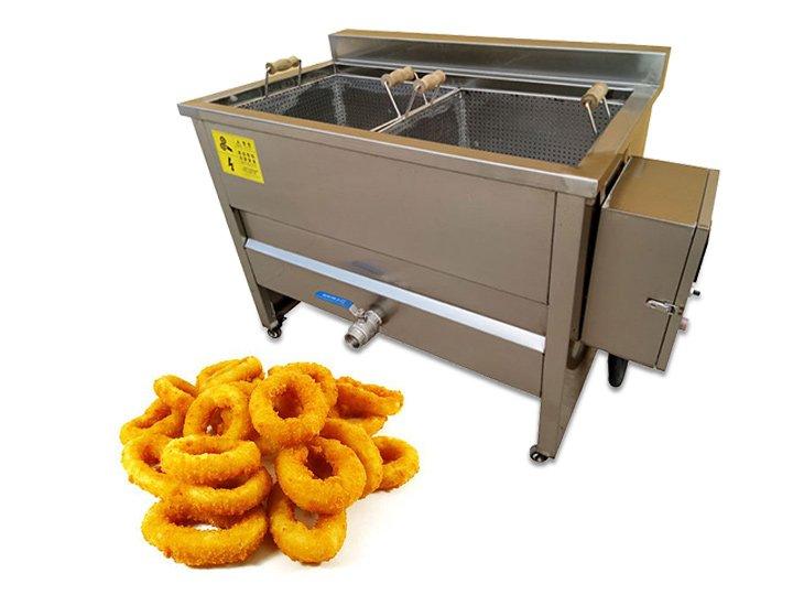 batch onion fryer machine