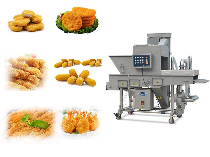commercial crumb breading machine