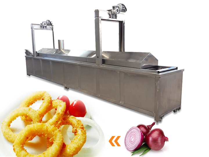 industrial onion frying machine