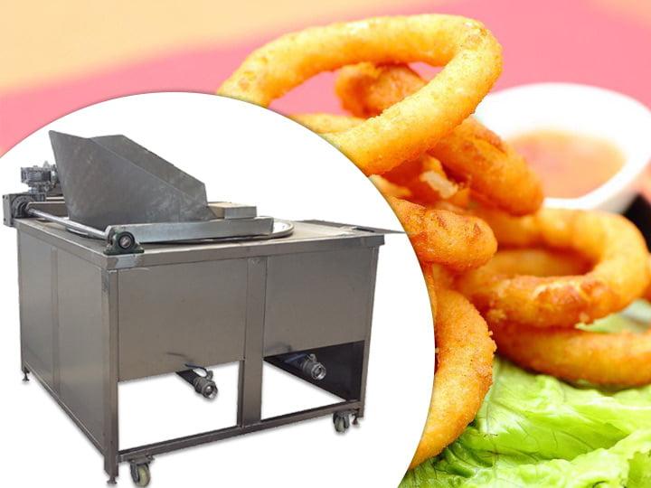 round batch onion ring frying machine