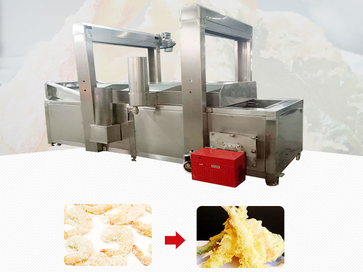 Tempura shrimp frying machine