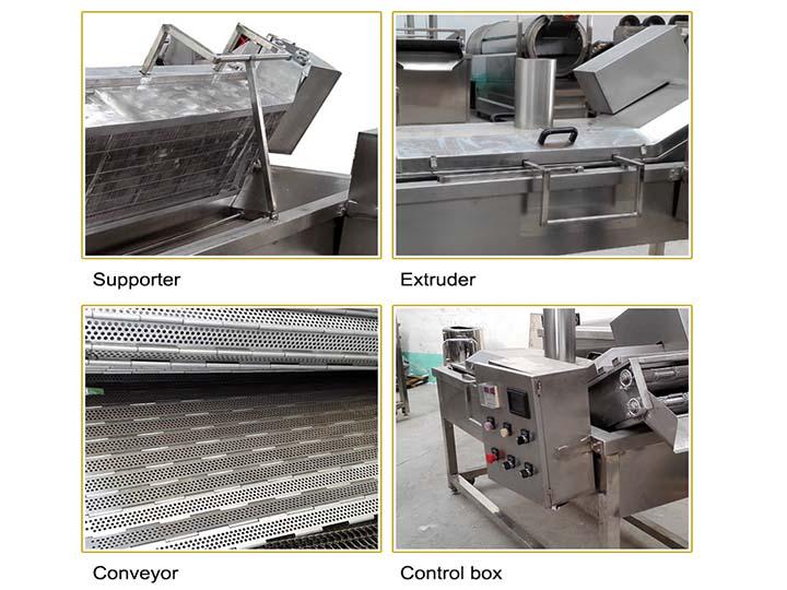 machine details of mesh belt frying machine