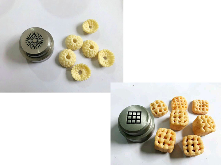 molds and products of puffed food machine 1